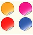 Blank round stickers vector image