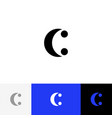 c with two dots minimalism logo letters c vector image