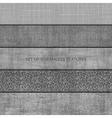 Set of five seamless relief textures vector image
