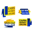 Set of origami labels for business vector image