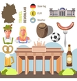 Travel Concept Germany Landmark Flat Icons Design vector image