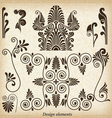 Old greek ornaments vector image