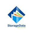 data storage file folder logo vector image
