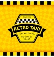 Taxi symbol with checkered background - 17 vector image