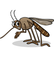 mosquito insect cartoon vector image