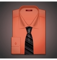 classic shirt and tie vector image vector image