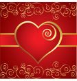 vintage heart background vector image vector image