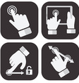 Touch Screen Gesture Collection vector image