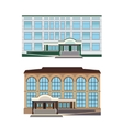 Set - two of modern buildings vector image