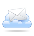 Cloud email vector image