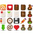 internet and blogger icons vector image