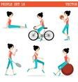 Sports girl vector image