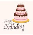 Birthday cake and desserts vector image