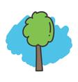 Cartoon doodle tree vector image