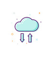 concept cloud icon thin line flat design data vector image