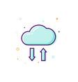concept cloud icon thin line flat design data vector image