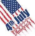 Fourth of july independence day of America vector image