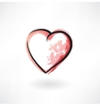 heart grunge icon vector image