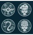 Special unit military emblem set design template vector image