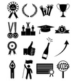 Success icons set vector image