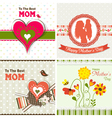 Template greeting card mother day vector image