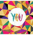 thank you colorful card vector image