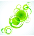 Green abstract background with grunge circles vector image vector image