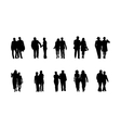 high quality business people silhouettes vector image vector image