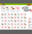 how many farm animals game vector image vector image