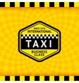 Taxi symbol with checkered background - 18 vector image