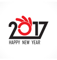 201 and 7 and hand sign vector image