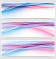 Dynamic speed line web bright header collection vector image