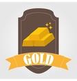 bullion gold vector image