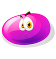Jelly bean with sad face vector image