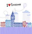 I love London 2 vector image vector image