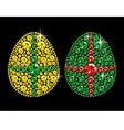 diamond easter eggs vector image