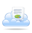 Cloud document vector image