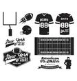 American football uniform t-shirt design with vector image