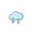 concept cloud icon thin line flat design element vector image