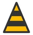 Cone Road Construction Flat Icon vector image