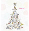 Doodles christmas greeting card vector image