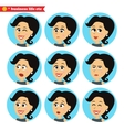 Facial emotions icons set vector image