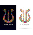 harp lyre vector image