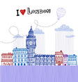I love London 2 vector image