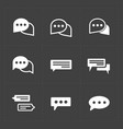 new modern speech bubble icons vector image