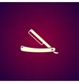 retro razor icon vector image
