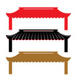 roof traditional china vector image