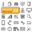 Set of twenty two icons linear vector image