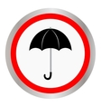 Umbrella and rain drops icon vector image