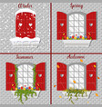 with window in four seasons vector image